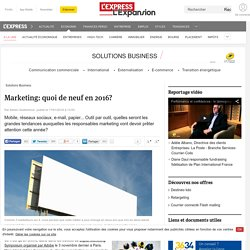 Marketing: quoi de neuf en 2016?