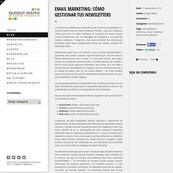 Email Marketing: Cómo gestionar tus newsletters - Marketing Online Profesor WordPress Community Manager en Valencia