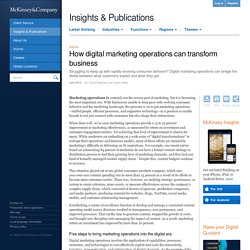 How digital marketing operations can transform business