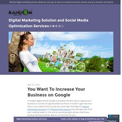 Digital Marketing Solution and Social Media Optimization Services✫✬✮✰☆