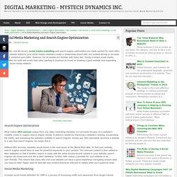 Social Media Marketing and Search Engine Optimization - Digital Marketing - Mystech Dynamics Inc.