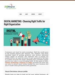 DIGITAL MARKETING – Choosing Right Traffic for Right Organization