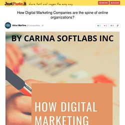 How Digital Marketing Companies are the spine of online organizations?