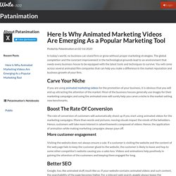 Here Is Why Animated Marketing Videos Are Emerging As a Popular Marketing Tool