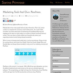 Marketing Tools that Own: Pearltrees
