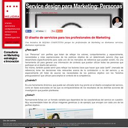 Service design para Marketing: Personas
