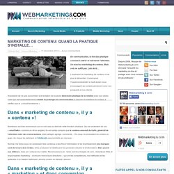 Marketing de contenu: quand la phatique s'installe...