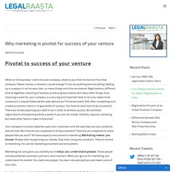 Why marketing is pivotal for your venture success