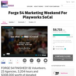 Forge 54 Marketing Weekend For Playworks SoCal