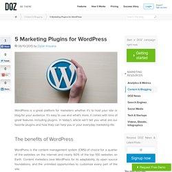 5 Marketing Plugins for Wordpress