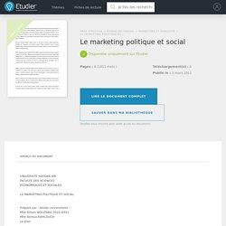 Le marketing politique et social - Compte Rendu - Bouznag