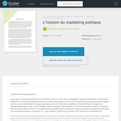 L'histoire du marketing politique - Rapport de Stage ...