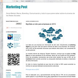 Big Data un reto para empresas en 2013
