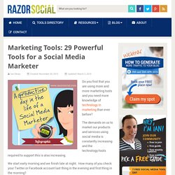 Marketing Tools 29 Powerful Tools for a Social Media Marketer