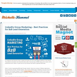 LinkedIn Group Marketing - Best Practices for B2B Lead Generation