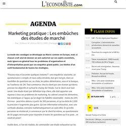 Marketing pratique : Les embûches des études de marché