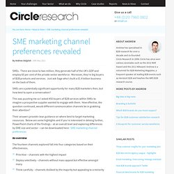 SME marketing channel preferences | B2B market research agency