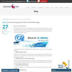 Why Is Email Marketing Preferred For Online Marketing?