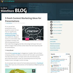 5 Fresh Content Marketing Ideas for Presentations