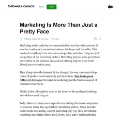Marketing Is More Than Just a Pretty Face
