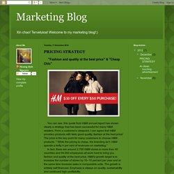 Marketing Blog: PRICING STRATEGY