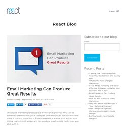 Email Marketing Can Produce Great Results