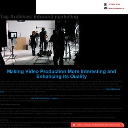 inbound marketing Archives - Video Production Companies NYC
