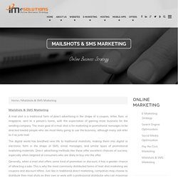 E-mail Marketing & SMS Professional Services