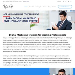 Digital marketing course for Working Professionals, Digital Marketing training for Working Professionals