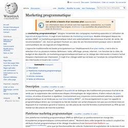Marketing programmatique
