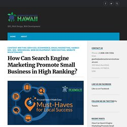 Search Engine Marketing Promote Small Business in High Ranking