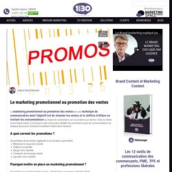 Le marketing promotionnel ou promotion des ventes