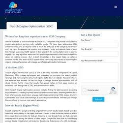 Webner is a Digital Marketing Company providing SEO services