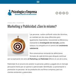 Marketing y Publicidad ¿Son lo mismo?