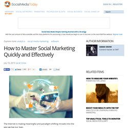 How to Master Social Marketing Quickly and Effectively