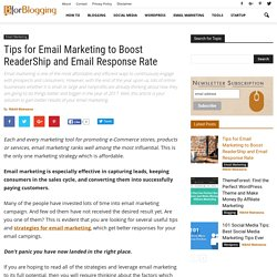 8 Proven Email Marketing Tips to Boost Readership and Email Response Rate