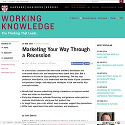 Marketing Your Way Through a Recession
