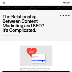 How to boost content marketing and SEO's relationship