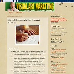 Art Marketing Blog: Sample Representation Contract Clauses