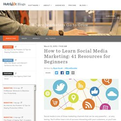 How to Learn Social Media Marketing: 41 Resources for Beginners
