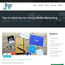 Tips to Optimize for Social Media Marketing