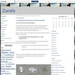 Le marketing sensoriel dans le secteur automobile. - Zarafa