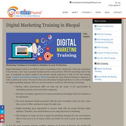 Digital Marketing Trainer Center in Bhopal