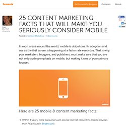 25 Content Marketing Facts That Will Make You Consider Mobile