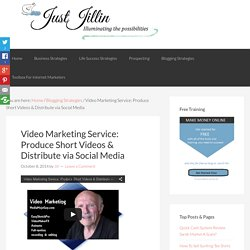 Video Marketing Service: Produce Short Videos & Distribute via Social Media