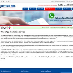 Whats App SMS Service Provider Patna - Jhatpat SMS