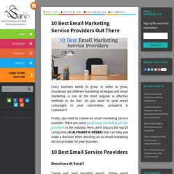10 Best Email Marketing Service Providers Out There - Sarv Blog