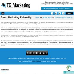 Direct Marketing Companies - Best Way To Ensure Your Message To Follow Up