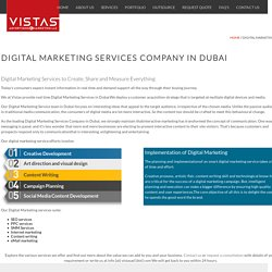 Digital Marketing Services Company in Dubai - Vistas Advertising