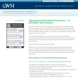 E-Mail Marketing Services Albuquerque: Interact With Your Customers